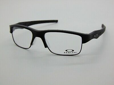 OAKLEY CROSSLINK SWITCH OX3128-0153 Satin Black Eyeglasses 53mm Rx Authentic NIB