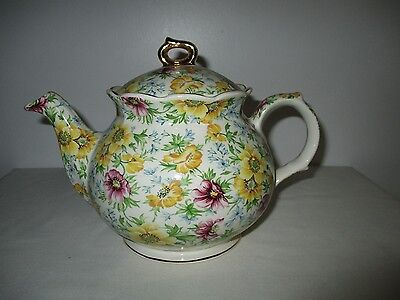 WINDSOR CHELSEA CHINTZ AUTUMN GOLD TEAPOT MADE IN ENGLAND