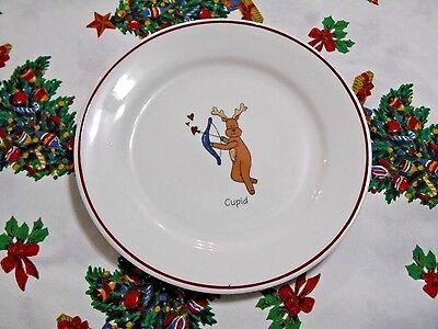 Ltd Commodities Inc Christmas Reindeer Cupid Plate