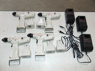 Ingersoll-rand Delvo Cordless Rechargeable Screw Driver Lot - Charger Batteries