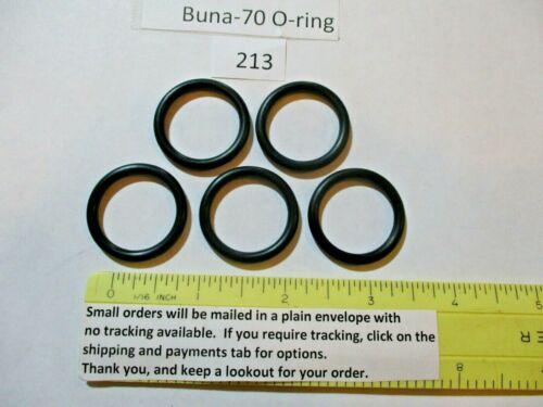 "213 O-ring 15/16"" ID x 1-3/16"" OD x 1/8"" thick. Buna-70.   Quan 5."