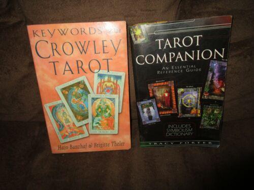 2 Tarot Books, The Tarot Companion & Keywords for the Crowley Tarot in GREAT Sha