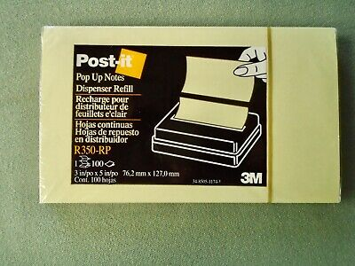 Lot 11 Pop Up Post It Note Pads 3x5 3m R350-rp Canary Yellow 100 Sheets Per Pad