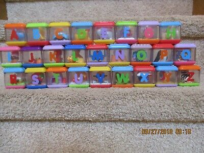 Fisher Price Stacking Letter building peek a blocks You Pick alphabet part toy