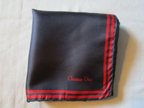 Vintage Christian Dior Navy Silk Pocket Square