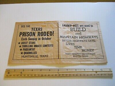 Texas Vintage Cowboy Rodeo Advertisement
