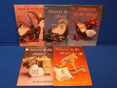 5 Susan Scheewe Book Lot Diana Richards Forever in My Heart Crafts Tole Painting