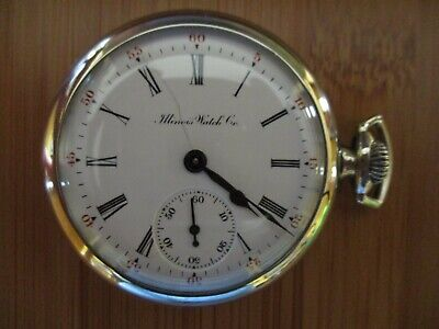 Vintage Antique Illinois Getty model 16s 11 jewels pocket watch  *serviced*