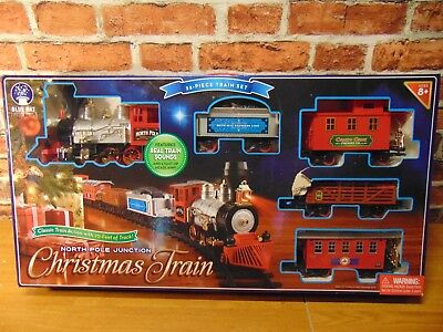 Blue Hat North Pole Junction Christmas Battery-operated Train Set