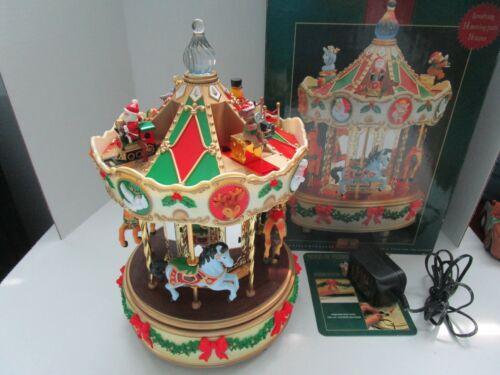 Christmas Holiday Around The Carousel Musical Animated Merry Go Round Maisto NEW