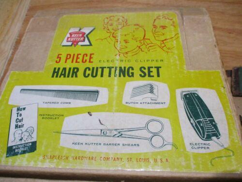 Vintage Keen Kutter Electric Clipper Hair Cutting Set & No. K538700 Hair Clipper