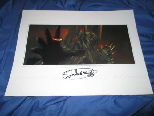 LORD OF THE RINGS  Fan Club Exclusive Movie Print Signed by Sauron/Sala Baker