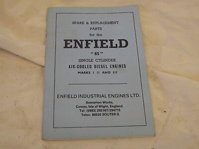 Enfield 85 Parts Book