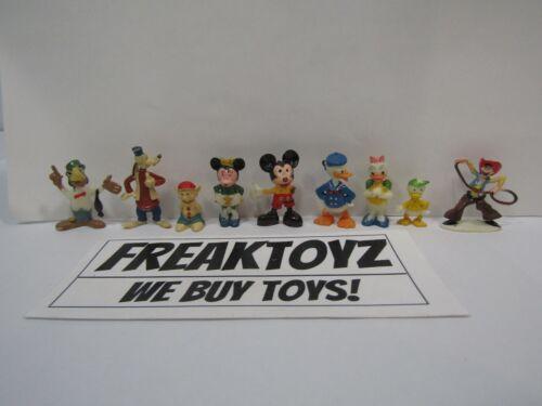 Lot of 9 Vintage Marx Disneykins Miniature Plastic Walt Disney Character Figures