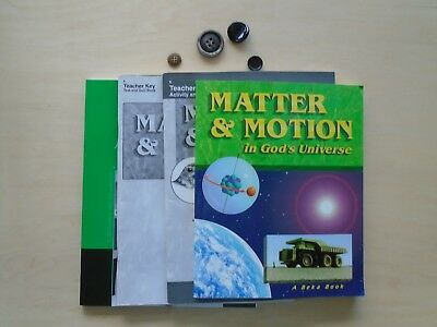 ABeka Homeschooling MATTER & MOTION Physical Science textbook/teacher  lot of 4 Physical Science Motion
