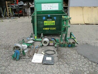 Greenlee 6001 6500 Lbs Super Tugger Cable Puller Package Complete