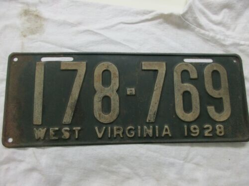 1928 West Virginia License Plate