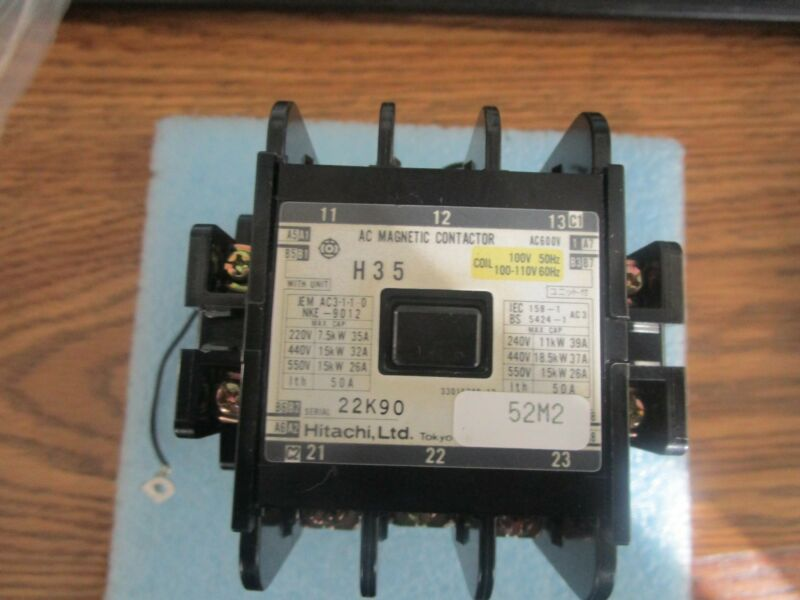 Hitachi Model: H 3 5  AC Magnetic Contactor with CS-8 Coil Surge Absorber  <