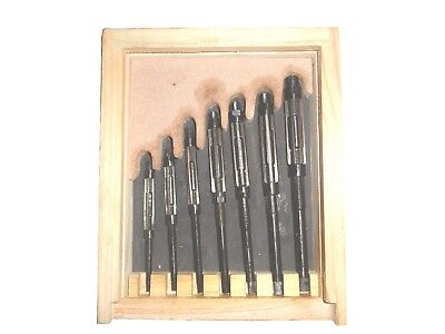 7pcs Adjustable Hand Reamers Hv To H314 To 1532 Fitted In Wooden Case