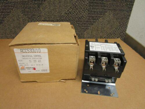 NEW ARROW HART CONTACTOR ACC530U10 MODEL 86 24V COIL 50A AMP 600Vac