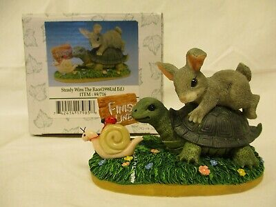 """""""STEADY WINS THE RACE"""" Charming Tails rabbit, turtle & snail LIMITED EDITION fig for sale  Shipping to Canada"""