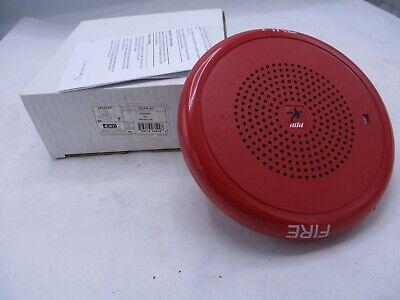New Edwards Est Gcfr-s7 Red Fire Alarm Speaker