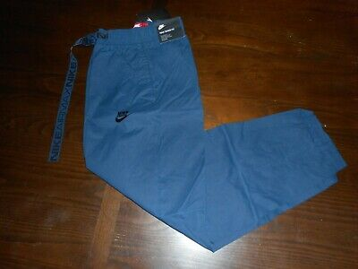 Nike Men's Air Max Sportswear Woven Pants 8615904 97 Navy NWT $100