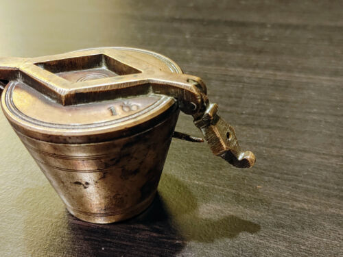 Beautiful & Exceptional Set of Antique Brass Nested Apothecary Cup Weights