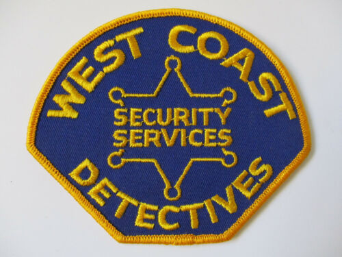vintage 1970 era West Coast Detectives Security California CA  Police Patch