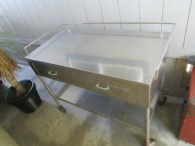 Stainless Steel Restaurant Commercial Food Kitchen Portable Serving Work Cart