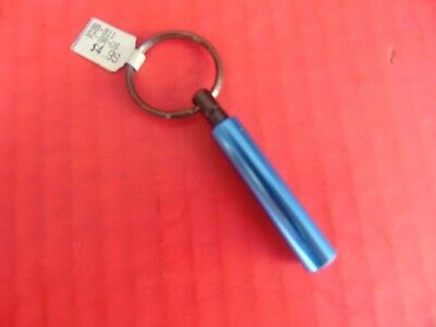 "KEY RING CHAIN METALLIC BLUE ROD Stem Cylinder 2.25"" Long (((NEW)))"