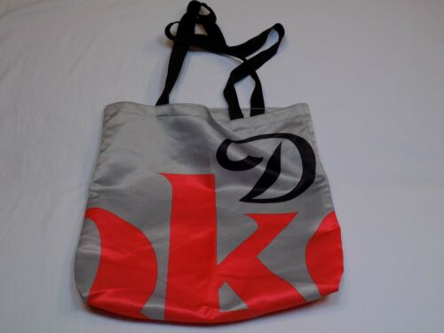 Diet Coke Coca Cola Carrying Tote Shopping Bag Grey Gray Red Black Logo Fabric