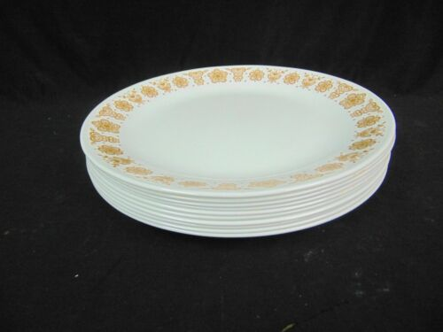 """VINTAGE CORELLE BUTTERFLY GOLD DINNER PLATES 10 1/4"""" SET OF 10"""