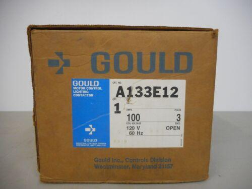 GOULD A133E12 LIGHTING CONTACTOR 100AMP 3POLE OPEN TYPE ENCLOSURE