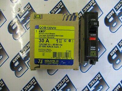 Square D Qob130vh 1 30 Amp 120 Volt 1 Pole Yellow Circuit Breaker- New