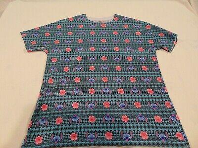 Disney Lilo And Stitch T Shirt Men's T-Shirt Allover Floral Tattoo Pattern - Stitches Tattoo