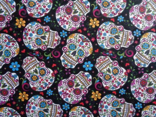 Handmade Cotton fitted crib sheet  black/ Folkloria Skeletons