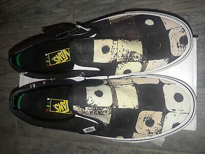 VANS X A Tribe Called Quest Classic Slip On Shoes ATCQ New Black size 10 men