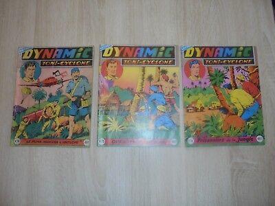 Lot de 3 Dynamic ( Artima ) Toni-Cyclone n° 74 , 75 et 76