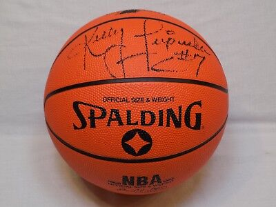 3183520b6061 NBA Charlotte Hornets  7 Kelly Tripucka Signed Spalding Basketball Autograph