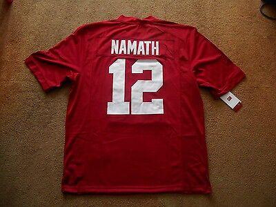 Joe Namath  12 Alabama Crimson Tide Stitch Ncaa Football Jersey Men Xl Tags New