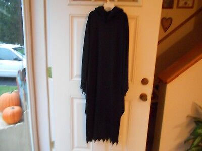 Fun World Black Hooded Ghoul/Reaper Halloween Costume  AdultCostume  sz L