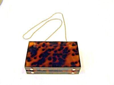 Zara Basic Collection lucite box purse/handbag/pocketbook/evening bag tortise sh