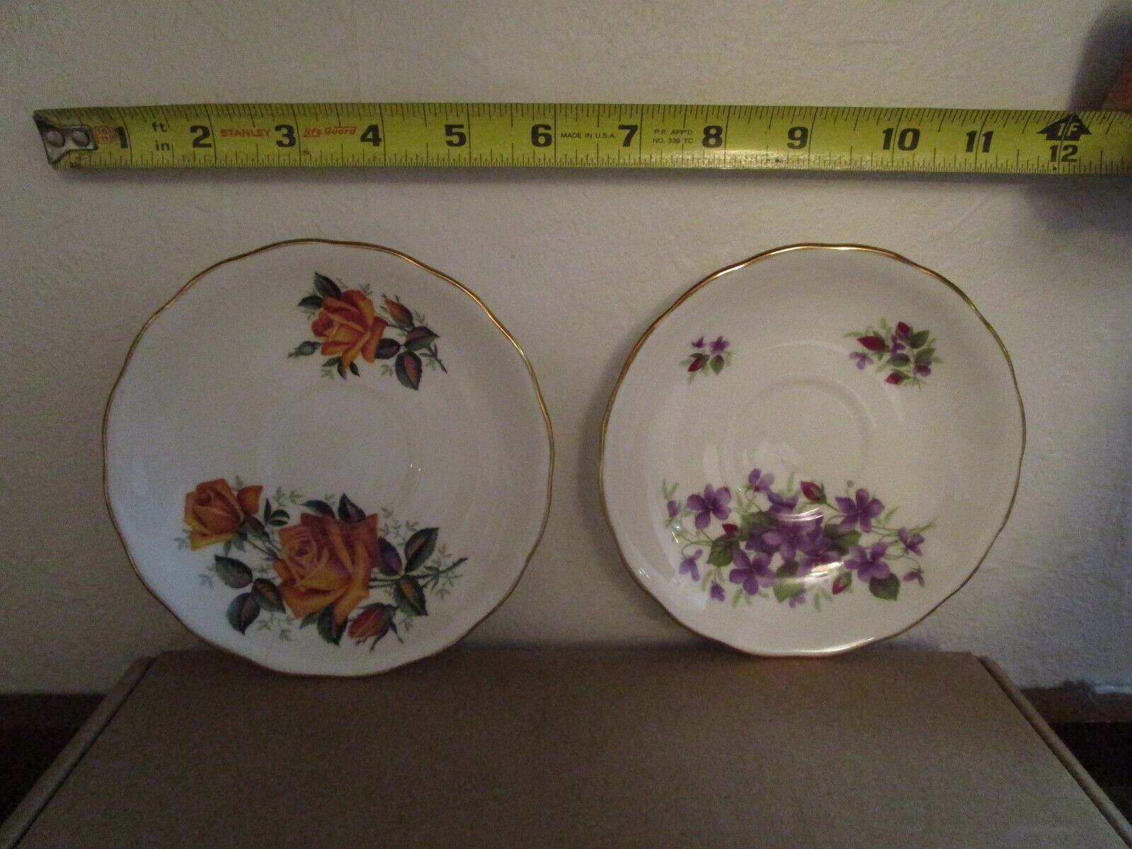 2 - Colclough Bone China 5 Small Plate / Saucer Made In England Flower Pattern  - $10.00