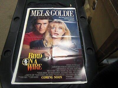 1 Sheet Movie Poster Bird On A Wire 1990 Mel Gibson Goldie Hawn David Carradine