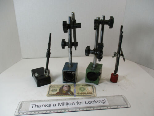 (4) Machinist Magnetic Bases, Mag Base, General England, (3) Others, w/ Arms