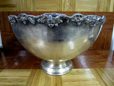 Vintage Silver Plated Punch Bowl