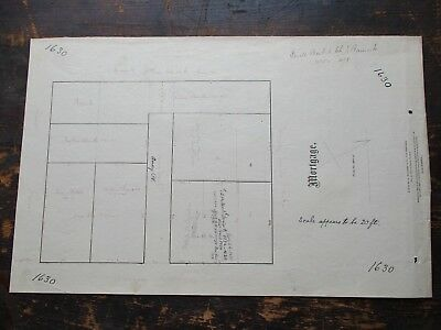 1874 Mortgage Survey, Amory St & Amory Place, Cambridge, MA