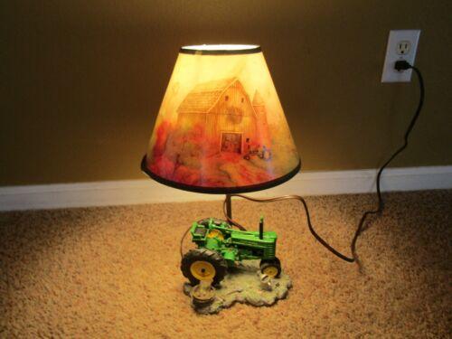 """John Deere - 12"""" Table Lamp Light - Green Tractor - Licensed JD 1999"""