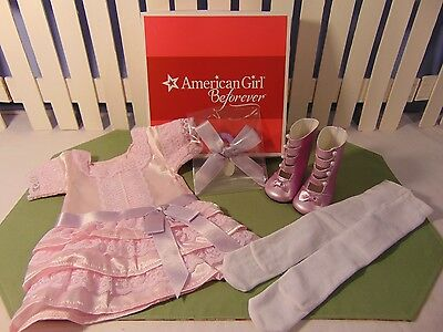 American Girl Retired Samantha Frilly Frock Outfit Nrfb Nib Gr8 Gift